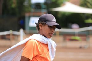 Young talented tennis player Denzel