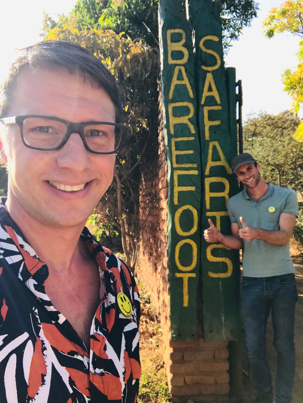 Dilo en Hessel bij Barefoot Safaris