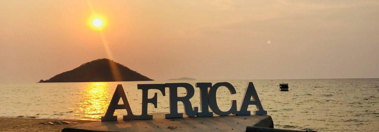 Zonsondergang over Lake Malawi