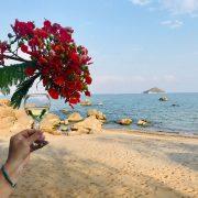 Genieten van een wijntje aan het Malawimeer