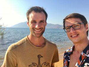 Hessel en Dilo aan Lake Malawi